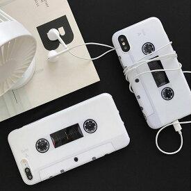 iPhone Design Case Cassette Tape iPhoneケース カセットテープ レトロ アイフォン X 8 7 8プラス 7プラス ブランド デザインケース スマートフォンケース スマホケース スマホカバー アイフォンケース