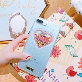 iPhone Design Case Heart Ball iPhoneケース ハート ボール ビーズ ピンク クリッター クリア キラキラ 立体的 アイフォンXR Xs Max Xs X 8 7 6s 6 8 7 6s 6プラス ブランド デザインケース スマートフォンケース スマホケース スマホカバー アイフォンケース
