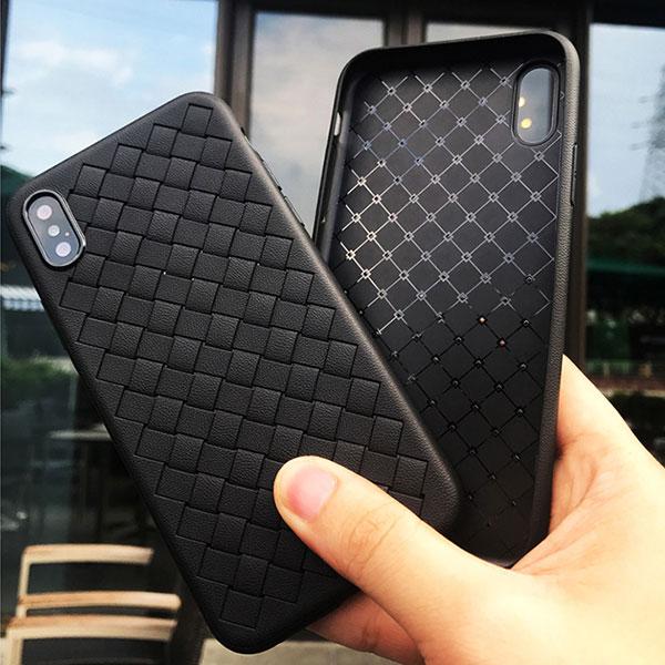 iPhone Design Case Leather mesh Pattern iPhoneケース レザー調 レザーデザイン メッシュ 編み込み シンプル おしゃれ スタイリッシュ アイフォンXR Xs Max Xs X 8 7 8 7プラス ブランド デザインケース スマートフォンケース スマホケース スマホカバー アイフォンケース