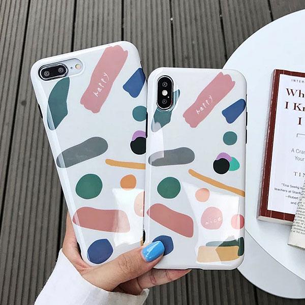 iPhone Design Case Drawing iPhone ケース ドローイング インク ペイント 絵の具 エノグ 美術 お絵かき アイフォンXR Xs Max Xs X 8 7 8 7プラス ブランド デザイン スマートフォン スマホケース スマホカバー アイフォンケース