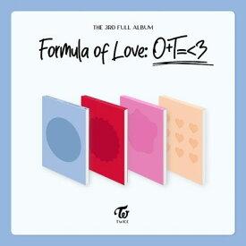 【11/12 発売】【予約販売】【初回限定ポスター丸めて】TWICE トゥワイス 3集 アルバム【FORMULA OF LOVE: O+T=