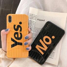 iPhone design case Yes No Travel Case iPhone ケース イエス ノー トラベル ケース 旅行 ブラック イエロー スーツケース キャリーバッグ ユニーク 可愛い 韓国 ファッション ブランド デザイン スマートフォン スマホケース スマホカバー アイフォンケース