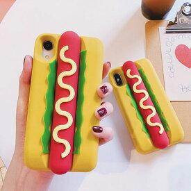 iPhone design case Hotdog iPhone ケース ホットドッグ フード ハンバーガー アメリカ スタイリッシュ ユニーク カップル シリコーン ゴム 立体的 韓国 ファッション ブランド デザイン スマートフォン スマホケース スマホカバー アイフォンケース