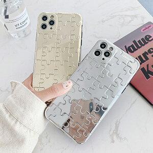 iPhone Metal Puzzle Case メタル パズル ゲーム 金 銀 色 カラー シルバー ゴールド シンプル おしゃれ スタイリッシュ 韓国 アイフォン SE2 11 11 Pro 11 Pro Max XR Xs Max Xs X 8 7 ブランド デザイン スマート