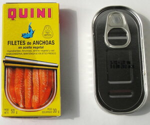 (代引不可/全国送料無料)キーニ アンチョビフィレ50g×【6缶セット】オイルサーディン スペイン料理