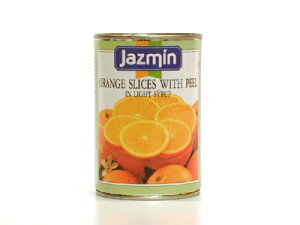 ジャスミン オレンジスライス 皮付 410g/1缶 フルーツ缶詰 スペイン産