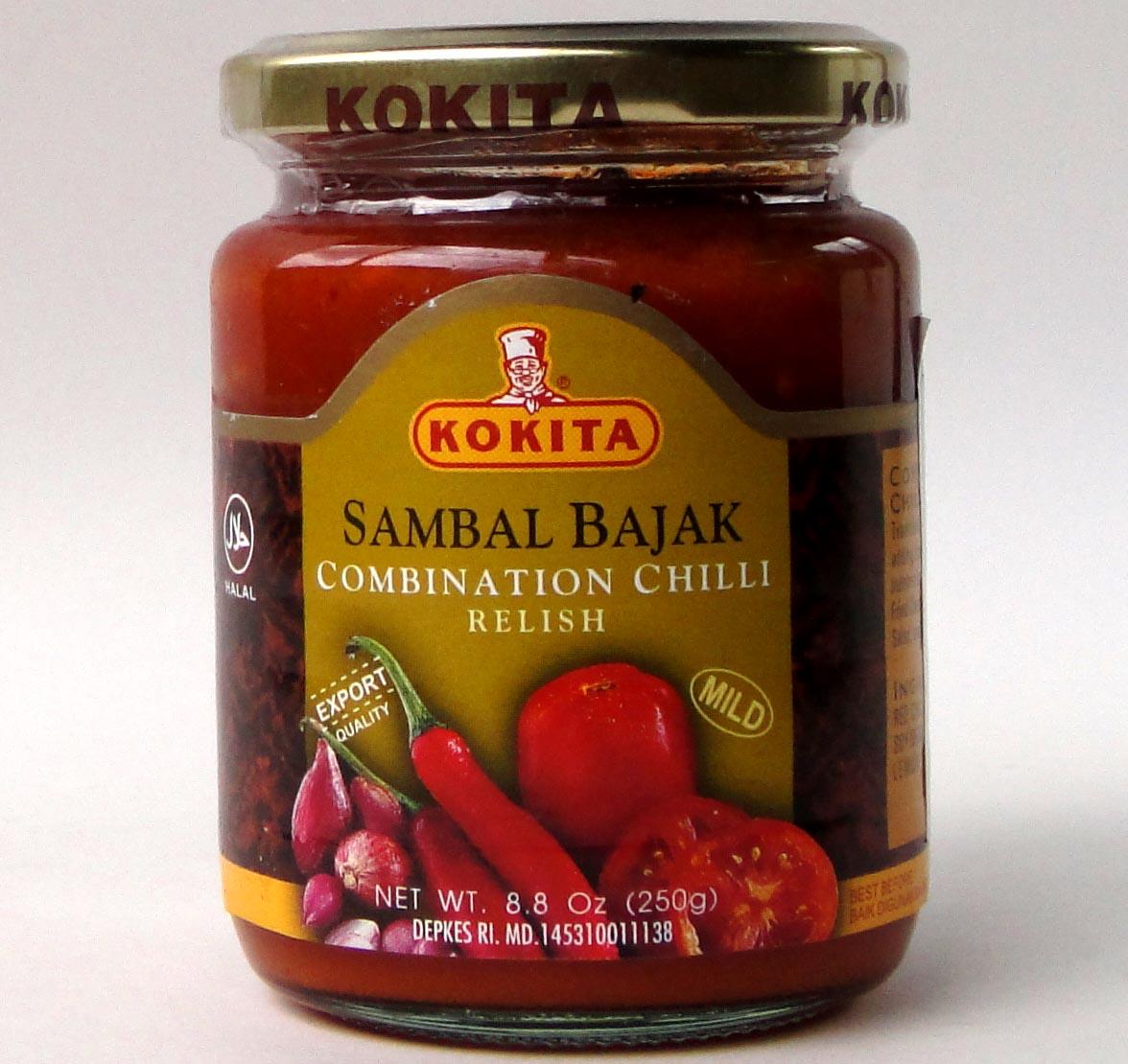コキタ サンバルバジャック マイルド250g/瓶【激辛口サンバルチリペースト サンバルソース】インドネシア料理