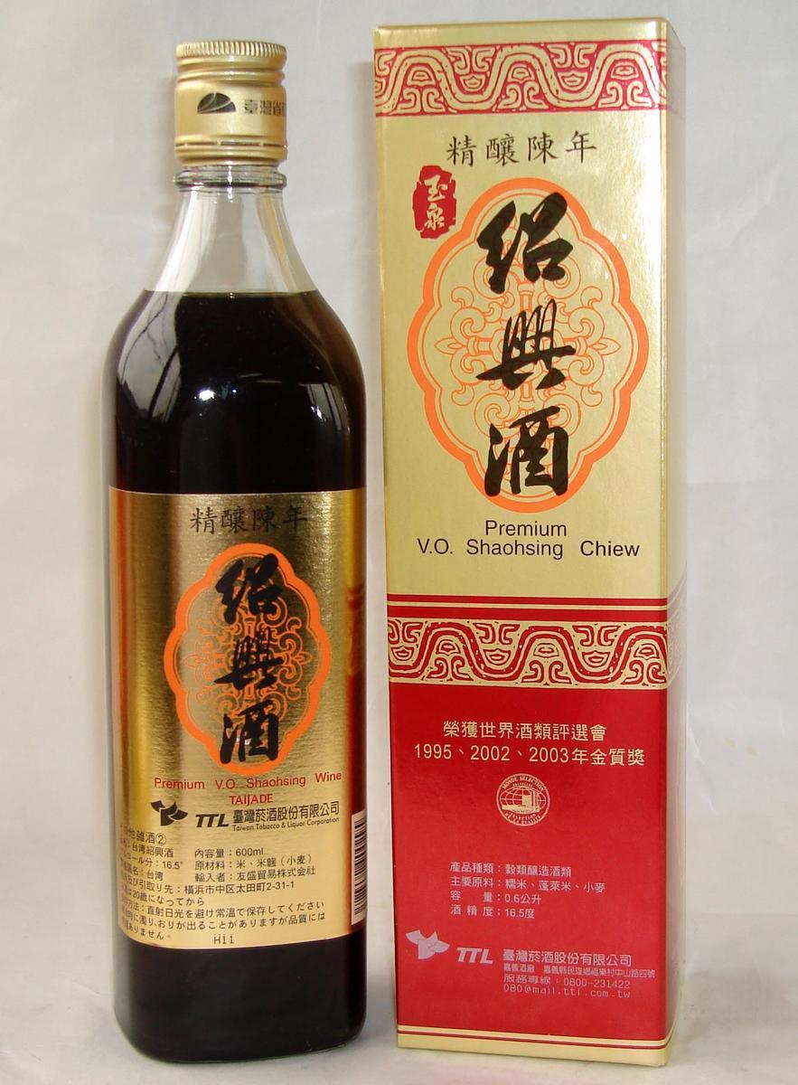 台湾精醸陳年紹興酒10年 600ml/瓶 台湾紹興酒