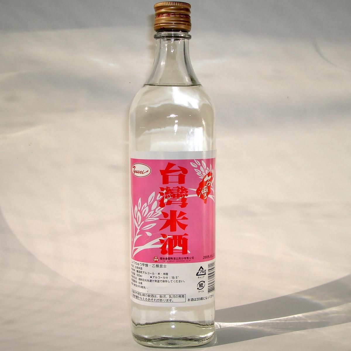 台湾米酒/瓶【米焼酎】台湾産料理酒