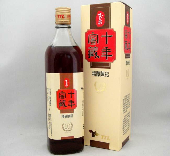 台湾十年窖蔵精醸陳年紹興酒 600ml/瓶【化粧箱入り】台湾紹興酒