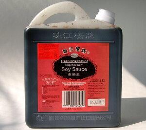 珠江橋牌 老抽王 中国たまり醤油 濃口 1.8L×6本