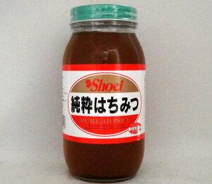 正栄 純粋はちみつ 100% 純粋蜂蜜 1000g/ガラス瓶容器 中国産ハチミツ 業務用食材