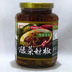 (送料無料 代引不可)TOEI 酸菜辣椒 365g/瓶(唐辛子入り高菜漬け具入りラー油)台湾激辛辣油