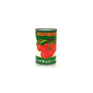 レッドチェリー枝付 425g/缶詰 M 中粒(固形量230g) 中国産