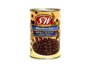 S&W ブルーベリー 425g/缶 ヘビーシロップ漬けフルーツ缶詰