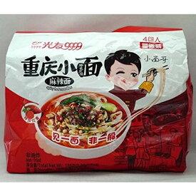 四川光友重慶小面(麻辣面)方便面 (辛口マーラー麺) 中国産 105g×4食 袋麺