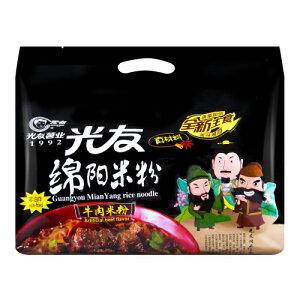 四川光友 綿陽米粉 牛肉米粉 (牛肉風味ビーフン) 中国産 135gx4食 袋麺
