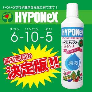 【送料込 2本】ハイポネックス 原液 450ml×2(NEWレイシオ6-10-5)水でうすめる液体肥料 家庭園芸肥料