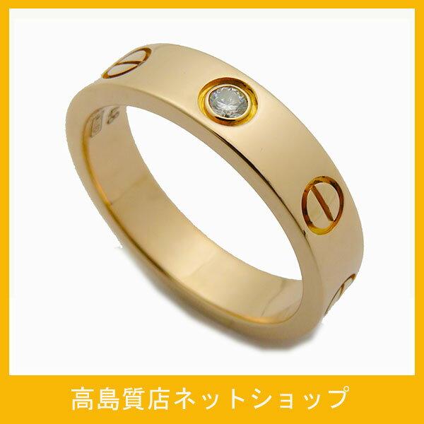 カルティエ Cartier ミニラブリング ダイヤ1P 750ピンクゴールド 仕上げ済み 指輪 レディース 激安 リング おしゃれ【全国送料無料】【あす楽対応】【中古】