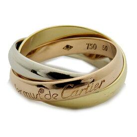 カルティエ Cartier トリニティーリング 750WG YG PG 仕上げ済み 指輪 レディース 激安 リング おしゃれ【全国送料無料】【あす楽対応】【中古】