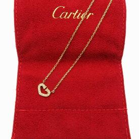 カルティエ Cartier Cハートネックレス 750イエローゴールド ファションダイヤ 仕上げ済み アクセサリー レディース 激安 おしゃれ【全国送料無料】【あす楽対応】【中古】