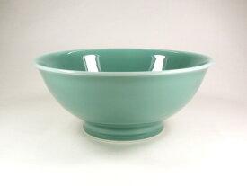 【波佐見焼】【白山陶器】 白山のどんぶりシリーズ 6寸反りめん丼(青磁) 麺鉢