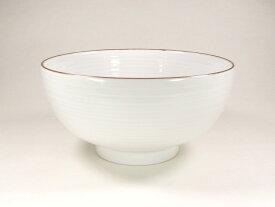 【波佐見焼】【白山陶器】 白山のどんぶりシリーズ ぞうすい碗(白磁千段) 雑炊碗