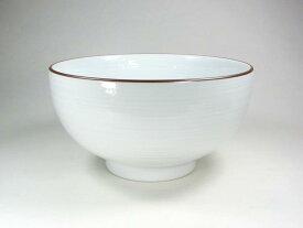 【波佐見焼】【白山陶器】 白山のどんぶりシリーズ 5寸深めん丼(白磁千段) 麺鉢