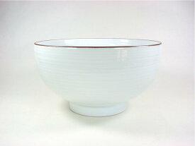 【波佐見焼】【白山陶器】 白山のどんぶりシリーズ 6寸深めん丼(白磁千段) 麺鉢