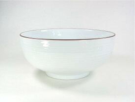 【波佐見焼】【白山陶器】 白山のどんぶりシリーズ 6寸浅めん丼 (白磁千段) 白磁千段6寸浅めん鉢 麺鉢