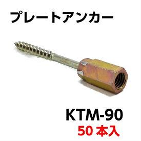 プレートアンカー KTM-90 ALC・コンクリート用 あと施工タイプ 50本入/箱 【ゼン技研 足場 壁つなぎ ALC】【あす楽】