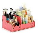 送料無料 化粧品収納 組立式 メイク収納 コスメ収納 卓上 ドレッサー ワゴン ジュエリーボックス 木製 化粧ボックス…