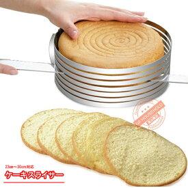 ケーキランド ステンレス ケーキスライサー  スポンジケーキ スライス補助具  製菓道具 ケーキ スライサー カッター ケーキナイフ