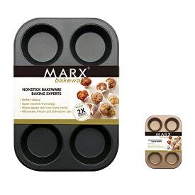 送料無料 マフィン型 6ヶ取 / 1枚  お菓子作りの型 マドレーヌ・フィナンシェ天板型 家庭用オーブンサイズ 表面フッ素加工