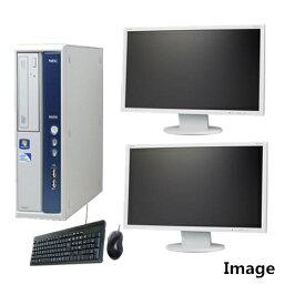 中古パソコン ポイント10倍 Windows 7【デュアルモニター】【無線付】【Windows 7 64Bit搭載】NEC MB-B Core i5 650 3.2G/高速メモリ8G/大容量1TB(新品)/DVD-ROM【中古】【中古パソコン】【中古PC】【安心保証】
