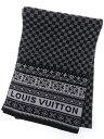 【LOUIS VUITTON】ルイヴィトン『ウールマフラー』メンズ 1週間保証【中古】b03f/h12A