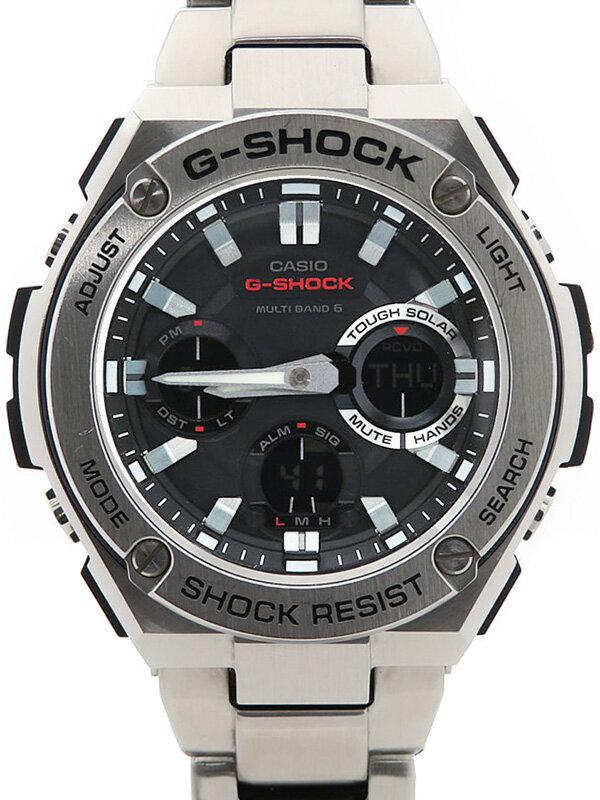 【CASIO】【G-SHOCK】【海外モデル】カシオ『Gショック Gスチール』GST-W110D-1AER メンズ ソーラー電波クォーツ 1週間保証【中古】b03w/h12B