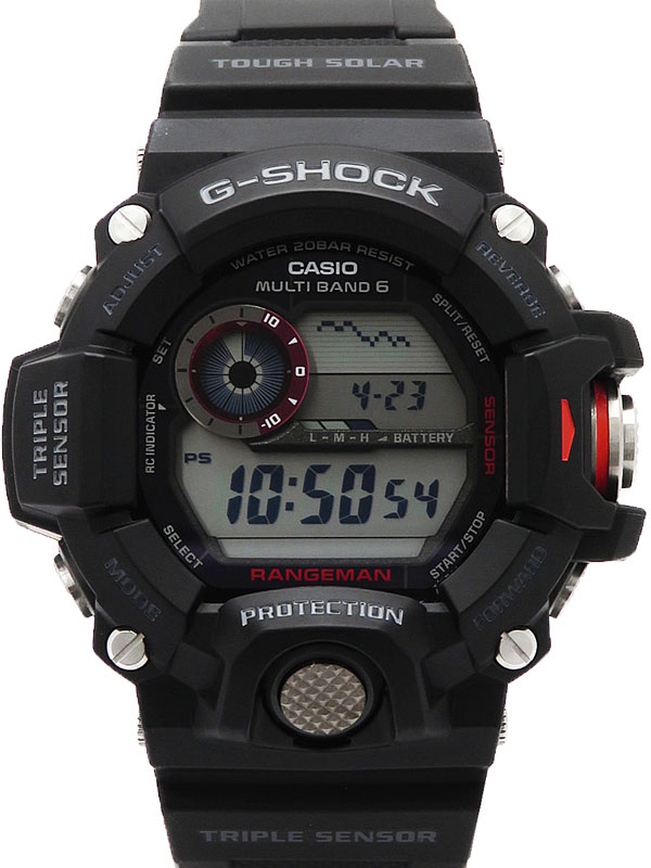 【CASIO】【G-SHOCK】【海外モデル】カシオ『Gショック レンジマン』GW-9400-1DR メンズ ソーラー電波クォーツ 1週間保証【中古】b03w/h12A