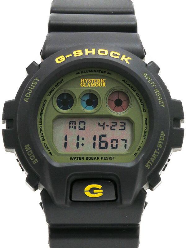 【CASIO】【G-SHOCK×HYSTERIC GLAMOUR】【美品】カシオ『Gショック ヒステリックグラマーコラボモデル』DW-6900FS メンズ クォーツ 1週間保証【中古】b03w/h12SA