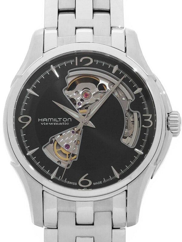 【HAMILTON】【裏スケ】【'17年購入】ハミルトン『ジャズマスター ビューマチック オープンハート』H32565135 メンズ 自動巻き 1ヶ月保証【中古】b03w/h01A