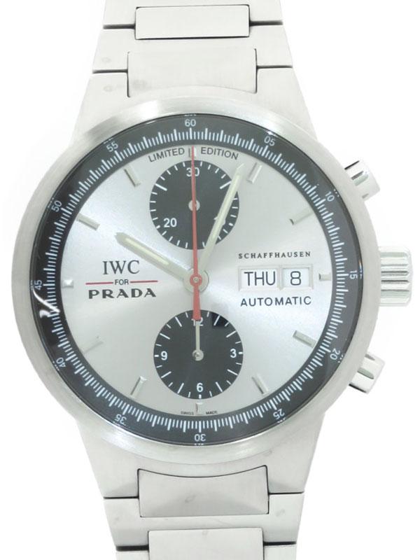【IWC】【for PRADA】インターナショナルウォッチカンパニー『GST クロノグラフ プラダ』IW370802 メンズ 自動巻き 3ヶ月保証【中古】b06w/h00AB