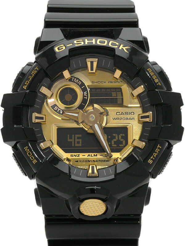 【CASIO】【G-SHOCK】【'18年購入】カシオ『Gショック』GA-710GB-1AJF メンズ クォーツ 1週間保証【中古】b02w/h03A