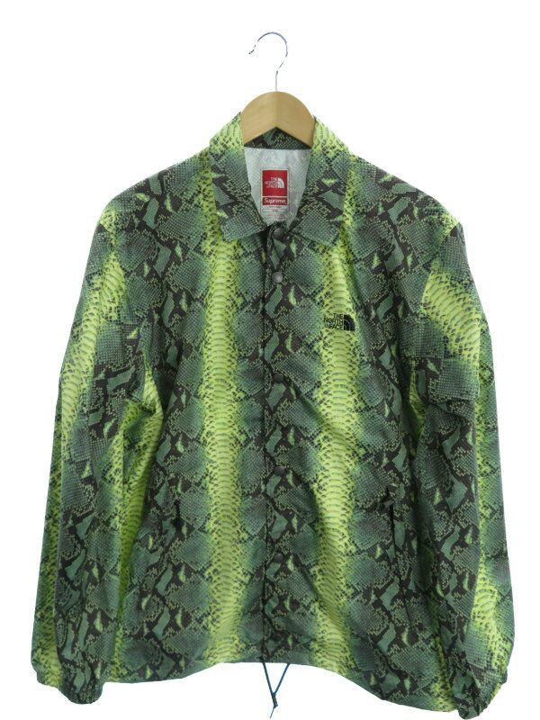 【THE NORTH FACE】【Supreme】【Snakeskin Taped Seam Coaches Jacket】【アウター】ザノースフェイス『ナイロンジャケット sizeM』NP118031 メンズ【中古】b02f/h21A