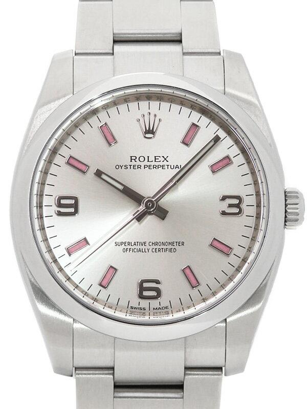 【ROLEX】【ピンクインデックス】ロレックス『オイスターパーペチュアル』114200 ランダム番 メンズ 自動巻き 12ヶ月保証【中古】b02w/h13A