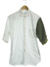 【COMME des GARCONS SHIRT】【フランス製】【トップス】コムデギャルソンシャツ『半袖シャツ sizeM』S25056 メンズ 1週間保証【中古】b01f/h07AB