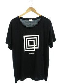 【CELINE】【クラシックTシャツ】【LABYRINTHE SHOW INVITATION】【イタリア製】セリーヌ『半袖Tシャツ sizeXXL』2X308605G レディース カットソー【中古】b03f/h12AB