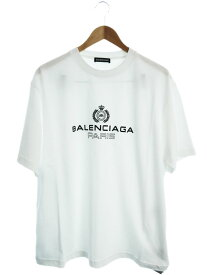 【BALENCIAGA】【bb paris t-shirt】【ポルトガル製】【トップス】バレンシアガ『半袖Tシャツ sizeL』594579 TGV60 2019 メンズ カットソー 1週間保証【中古】b02f/h21A