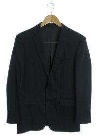 【BURBERRY BLACKLABEL】【3ピース】バーバリーブラックレーベル『ストライプ柄ベスト付スーツ上下セット size38L』D1H06-809-29 メンズ 1週間保証【中古】b05f/h16AB