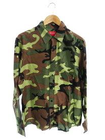 【Supreme】【Silk Camo Shirt】シュプリーム『カモフラ柄長袖シルクシャツ sizeM』19SS メンズ 1週間保証【中古】b03f/h20AB