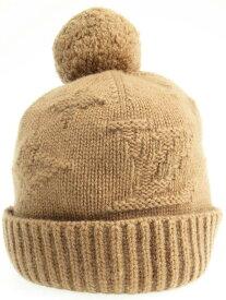 【LOUIS VUITTON】【イタリア製】ルイヴィトン『カシミヤ ニット帽』ユニセックス 帽子 1週間保証【中古】b03f/h10AB